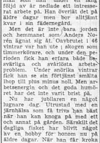 Norén Anders Muskus 85 år 31 maj 1956 PT