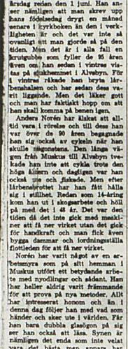 Norén Andreas Vistträsk 95 år 1 juli 1966 NK