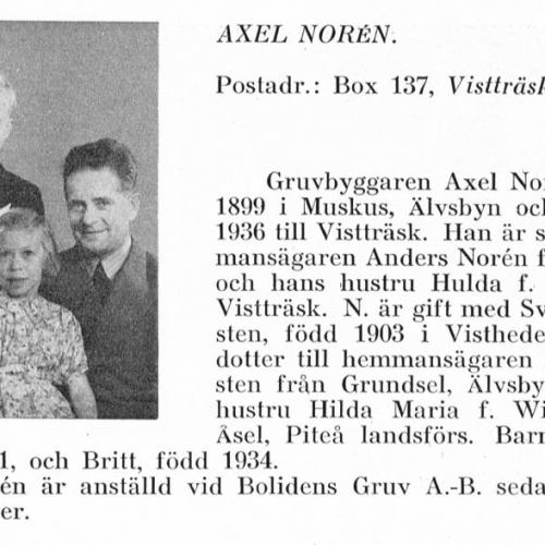 Norén Axel & Stig Birger & Britt & Svea Södersten Från Svenskt Porträttarkiv