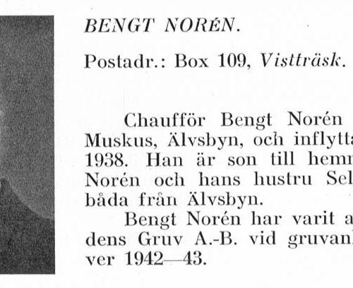 Norén Bengt 1916 Från Svenskt Porträttarkiv