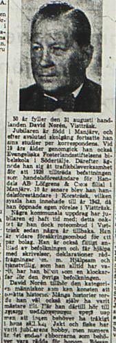 Norén David Vistträsk 50 år 29 aug 1953 NK