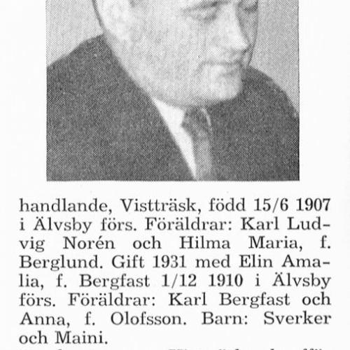 Norén Einar 19070615 Från Svenskt Porträttarkiv