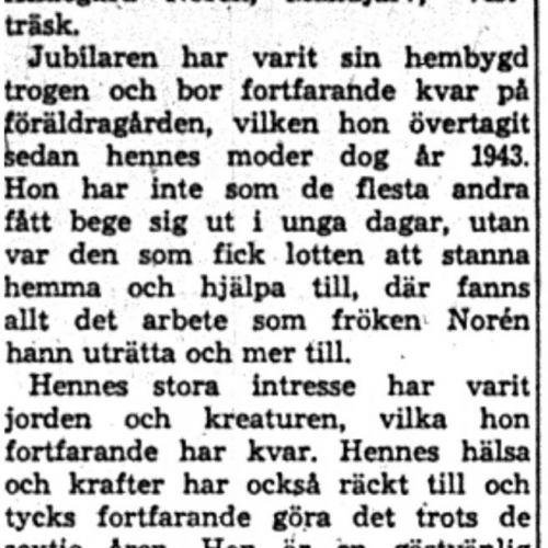 Norén Hildegard Manjärv 60 år 31   Juli 1959 NK