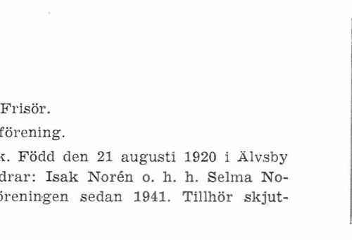 Norén Holger 19200821 Från Svenskt Porträttarkiv