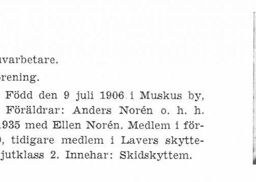 Norén John 19060709 Från Svenskt Porträttarkiv