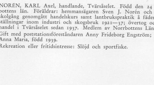 Norén Karl 18980424 Från Svenskt Porträttarkiv