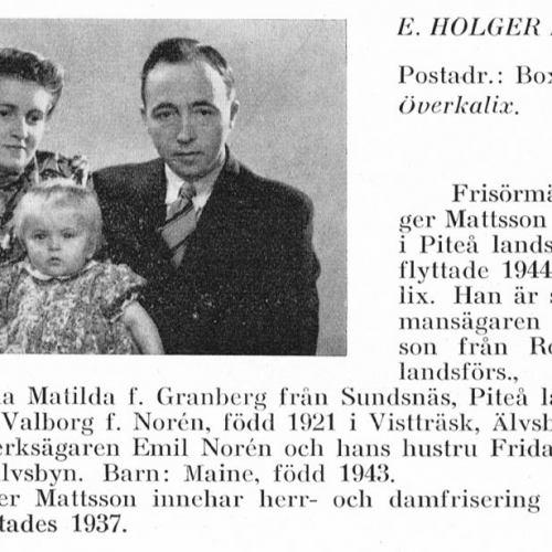 Noren Valborg & Mattson Holger & Maine Från Svenskt Porträttarkiv