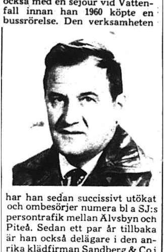 Nyberg Åke Älvsbyn 50 år 26 Mars 1975 PT