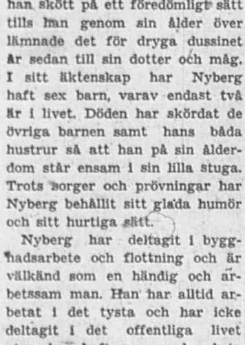 Nyberg Anton Nystrand 75 år 27 juni 1956 PT