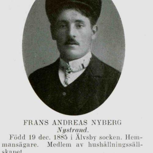Nyberg Frans Andreas Nystrand