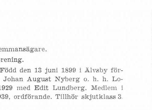 Nyberg Karl 189906103 Från Svenskt Porträttarkiv