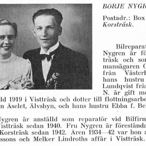 Nygren Börje & Karin Wikberg Från Svenskt Porträttarkiv
