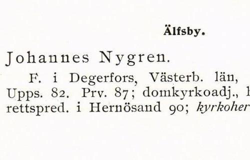 Nygren Johannes 18610109 Från Svenskt Porträttarkiv