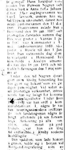 Nygren Johannes Älvsbyn död 27 Nov 1916 PT