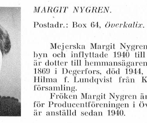 Nygren Margit 19090711- Från Svenskt Porträttarkiv