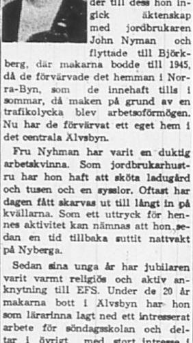Nyhman Frida Älvsbyn 60 år 24 Dec 1965 PT