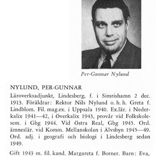 Nylund Per-Gunnar 19131202 Från Svenskt Porträttarkiv