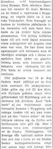 Nyman Axel Kronfors John Nyman 50 år Älvsbyn 13 Juli 1956 PT
