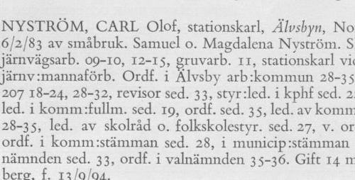 Nyström Carl Olof 18830206 Från Svenskt Porträttarkiv a