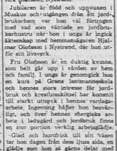 Olofsson Elvira Nystrand 50 år 17 Jan PT