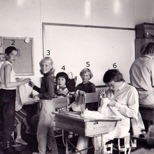 1958 Klass 5, sy slöjd Lillkorsträsk Sågfors