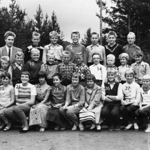 1957-58 klass 6 Lillkorsträsk