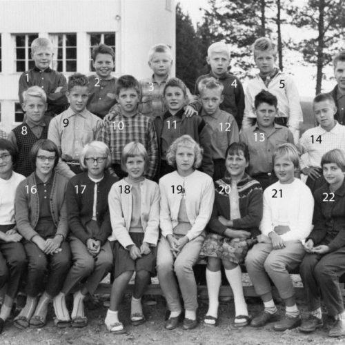 1960 klass 6 Lillkorsträsk
