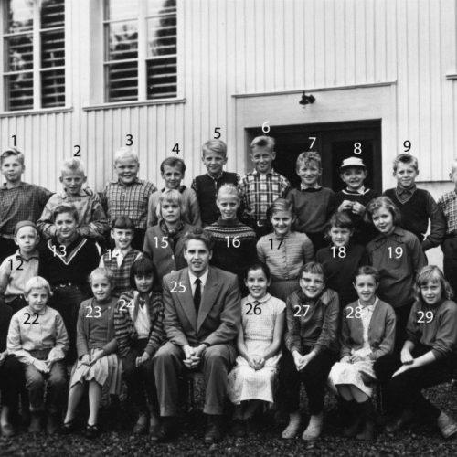1956/57 klass 5 Lillkorsträsk
