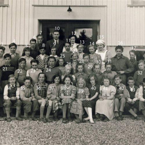 1949 elever och personal i Sågfors skola höstterminen
