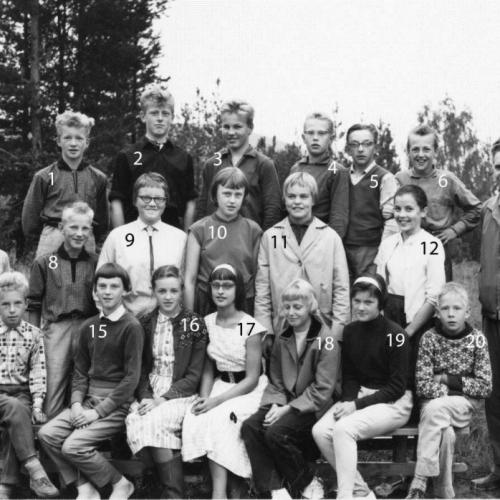 1958-59 klass 7 Lillkorsträsk