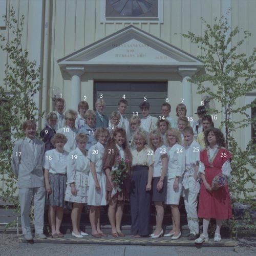 1989 Klass 9 D examen i Älvsby kyrka