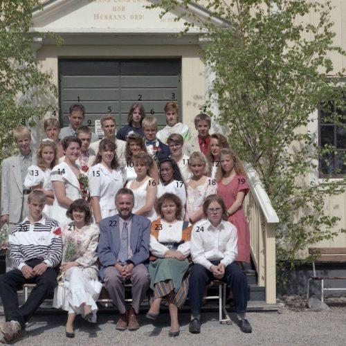 1992 Klass 9 A examen i Älvsby kyrka