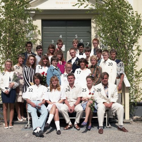 1992 Klass 9 D examen i Älvsby kyrka
