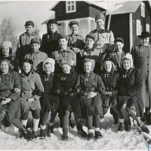 Kommunala Mellanskolan i Älvsbyn 1944-1945