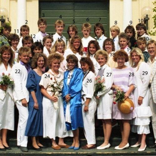 1988 Klass 9 C examen i Älvsby kyrka