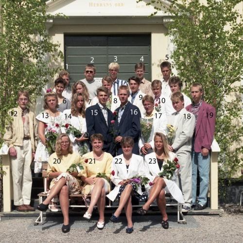 1992 Klass 9 C examen i Älvsby kyrka