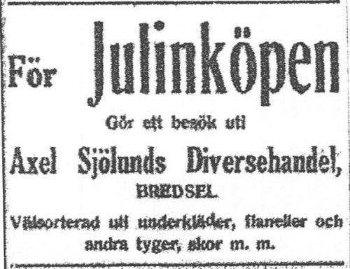 Axel Sjölunds Diversehandel