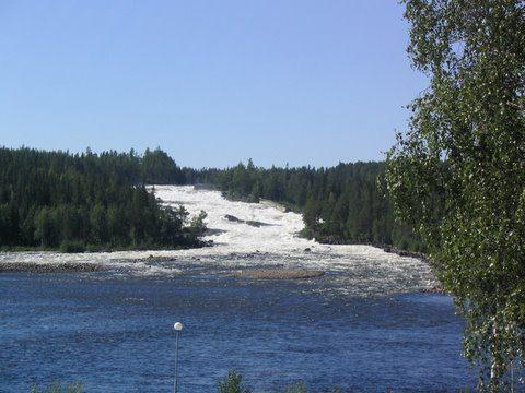 Sommarbild från Storforsen