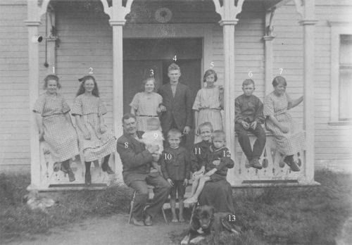Familjen Carl Pontus Öberg i Tällberg 1923