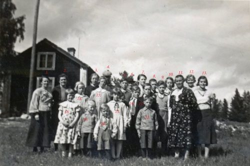 1936-37 skolavslutning i Teuger