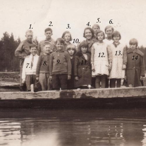 1930-1931 skolbarn i Teugerträsk (Teugerliden)