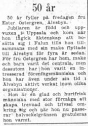 Östergren Ester Älvsbyn 6 Sept 1957 PT