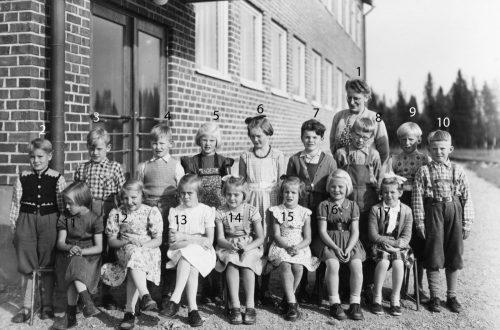 1953-54 skolklass i Tvärån