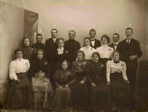 På baksida av bilden står det Tvärån 1905-1908