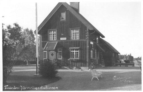 Järnvägsstationen i Tvärån.