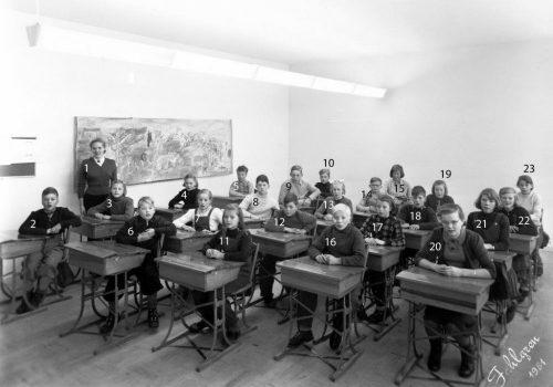 1951-52 skolklass i Tvärån
