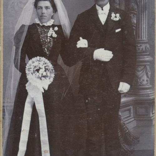 Övre Tväråsel Maria Eriksson och Isak Granberg g.1901-09-01