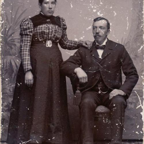 Övre Tväråsel Augusta Eriksson och Johan Petter Forsmark.