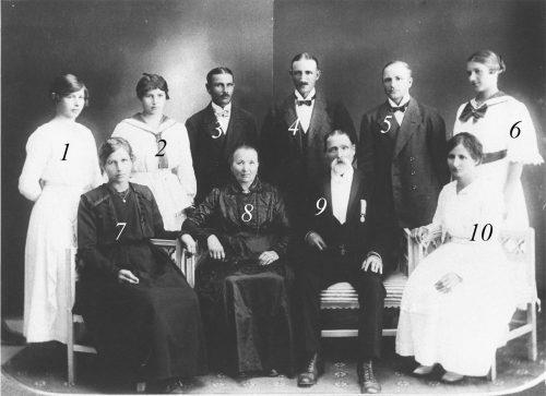 Familjen August Dahlberg fotograferade 1907