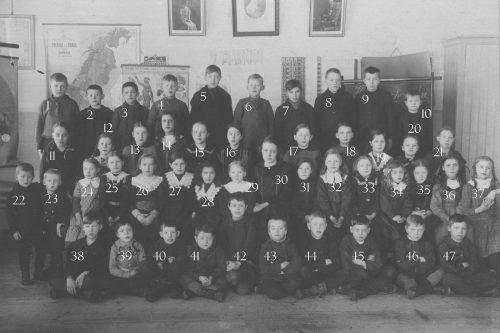 1917 Skolklass Tväråselet